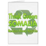 Think Green Somalia Greeting Cards