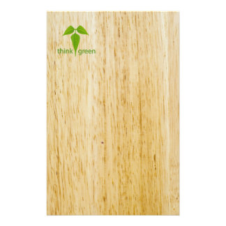 Think green stationery