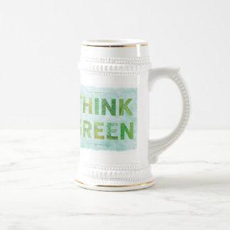 Think Green - stein mug