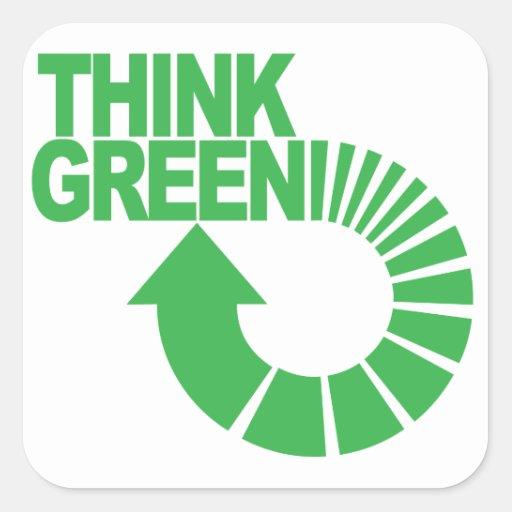 think green sticker