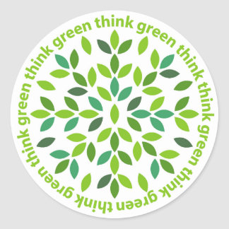 Think Green Stickers