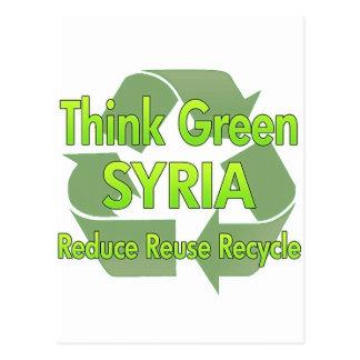 Think Green Syria Post Card
