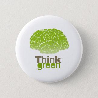 Think Green T-shirt / Earth Day T-shirt Pinback Button