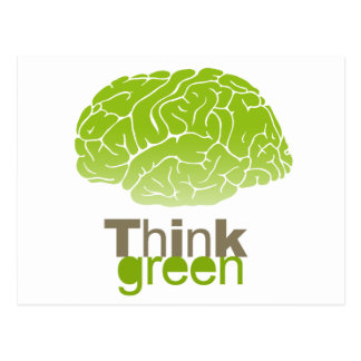 Think Green T-shirt Earth Day T-shirt Postcard