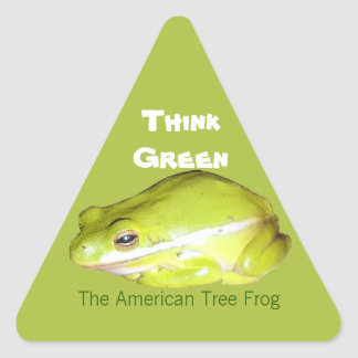 Think Green - The American Tree Frog  Sticker