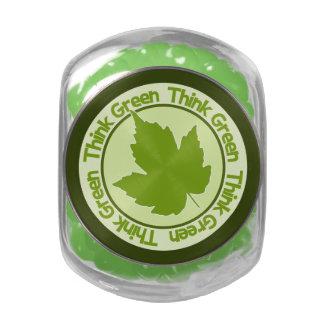 THINK GREEN tins & jars Glass Candy Jar