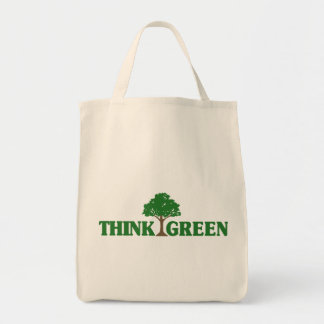 Think Green totebag Grocery Tote Bag