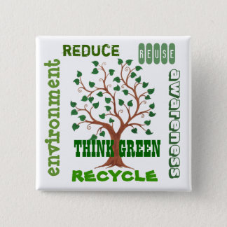 Think Green Tree - Customizable Pin