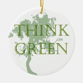 Think Green Tree Ornament