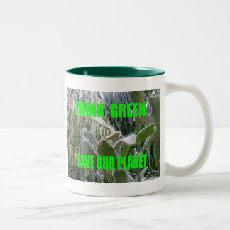Think Green Two-Tone Coffee Mug