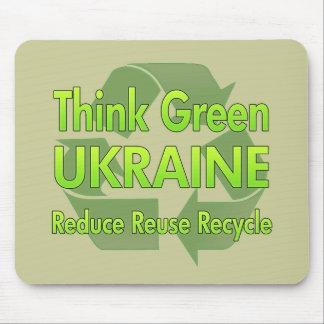 Think Green Ukraine Mouse Pad