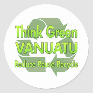 Think Green Vanuatu Round Sticker