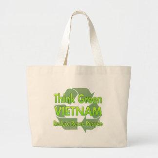 Think Green Vietnam Large Tote Bag