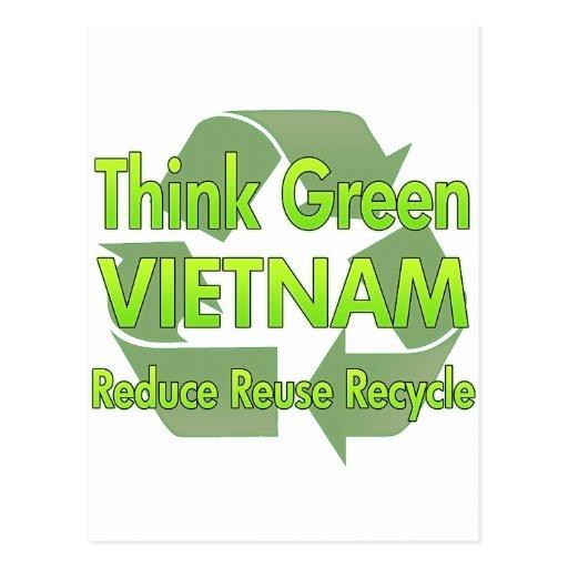 Think Green Vietnam Postcard