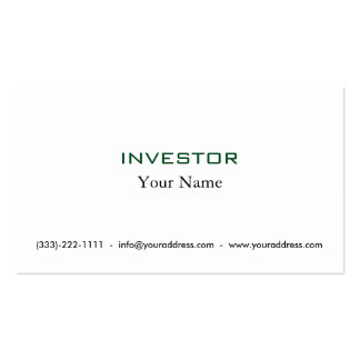 Think & Grow Rich Investor Card Business Card