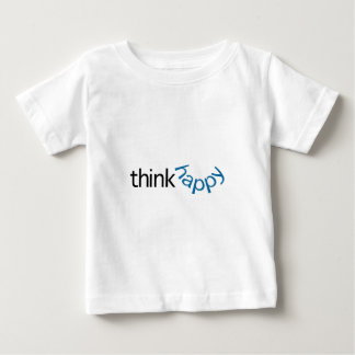 Think Happy (blue smile) T Shirts