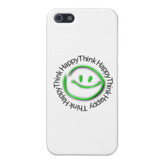 Think Happy (green neon edition) Cover For iPhone 5
