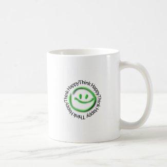 Think Happy (green neon edition) Mug