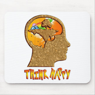 Think Happy Mouse Pad