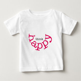 Think Happy (red smile) Baby T-Shirt