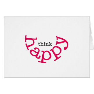 Think Happy (red smile) Card