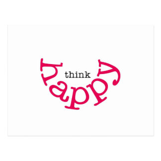 Think Happy (red smile) Postcard