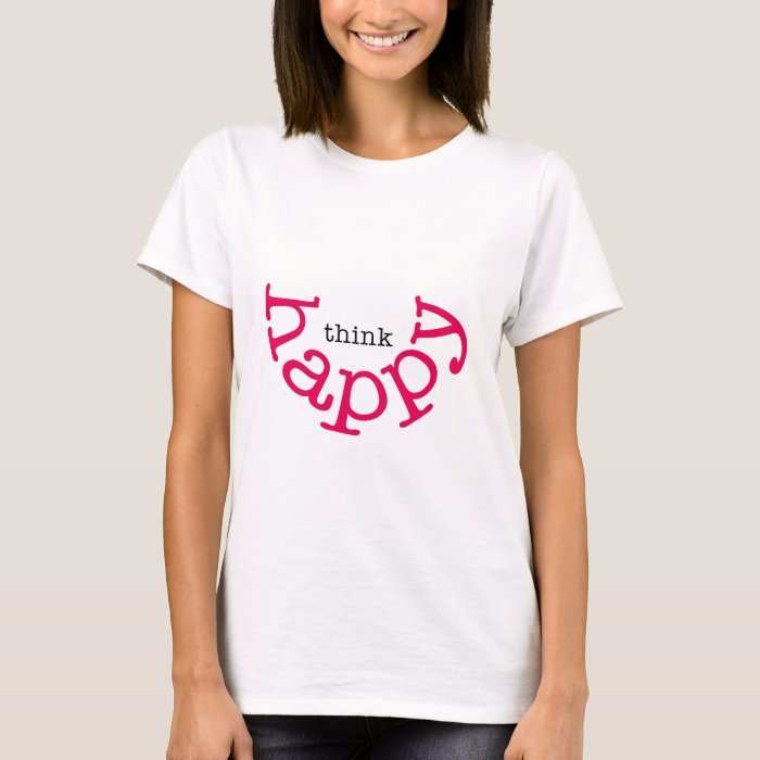 Think Happy (red smile) T-Shirt