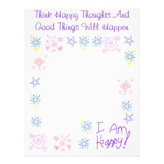 Think Happy Thoughts Book of Shadow Page