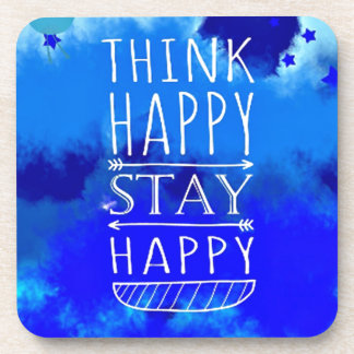 Think Happy Thoughts Collectible Gifts Beverage Coasters