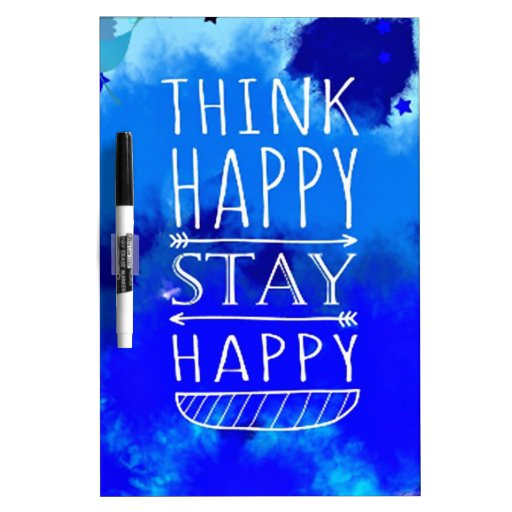 Think Happy Thoughts Collectible Gifts Dry Erase Boards