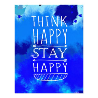 Think Happy Thoughts Collectible Gifts Personalized Letterhead