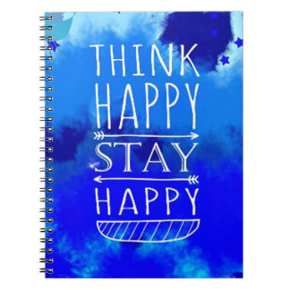Think Happy Thoughts Collectible Gifts Notebook