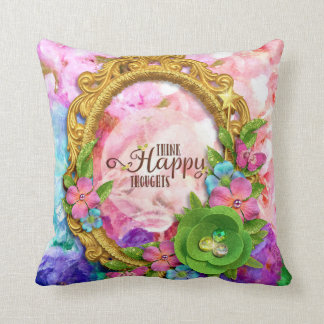 Think Happy Thoughts Pastel Pillow