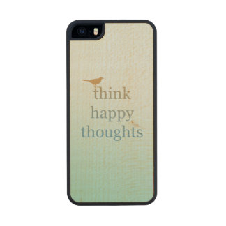 Think Happy Thoughts Wood iPhone SE/5/5s Case