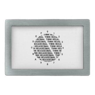 Think Hexadecimal (Clock Template Geek Humor) Belt Buckle