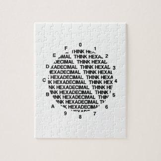 Think Hexadecimal (Clock Template Geek Humor) Puzzle