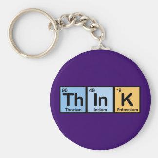 Think hizo de elementos llavero personalizado