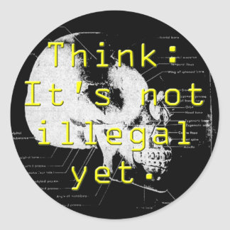 think illegal stickers