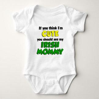 Think I'm Cute Irish Mommy Baby Bodysuit