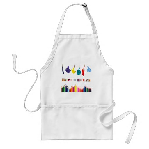 think in color aprons