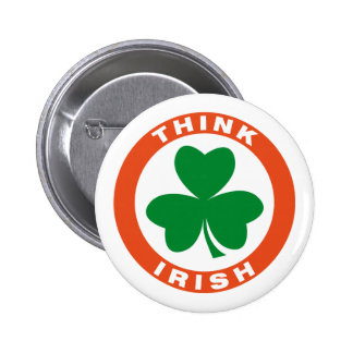 Think Irish Pinback Buttons