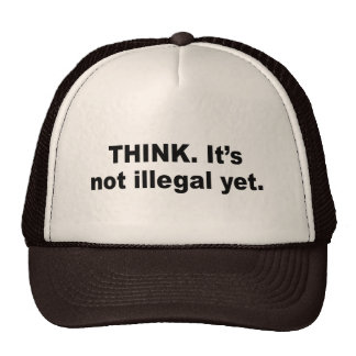 Think It s not illegal yet Mesh Hats