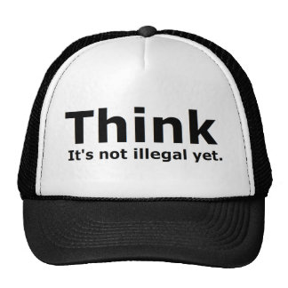 Think it s not illegal yet political gear trucker hat