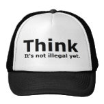 Think it's not illegal yet political gear trucker hat