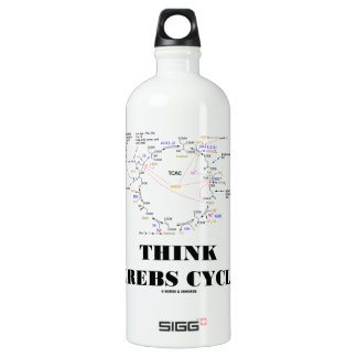 Think Krebs Cycle (Citric Acid Cycle - TCAC) Aluminum Water Bottle
