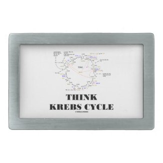 Think Krebs Cycle (Citric Acid Cycle - TCAC) Rectangular Belt Buckles