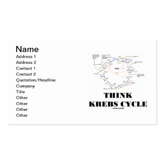 Think Krebs Cycle (Citric Acid Cycle - TCAC) Business Card