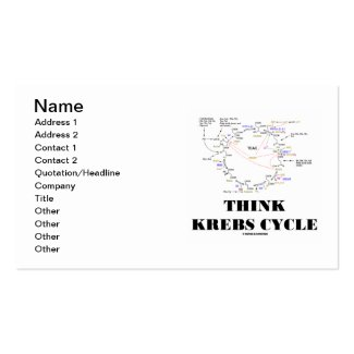 Think Krebs Cycle (Citric Acid Cycle - TCAC) Business Card Templates