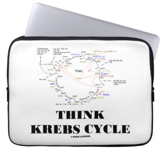 Think Krebs Cycle (Citric Acid Cycle - TCAC) Laptop Sleeve