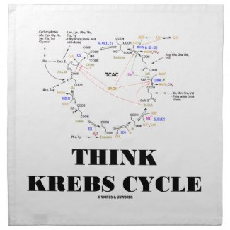 Think Krebs Cycle (Citric Acid Cycle - TCAC) Napkin